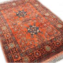 Antiek Oranje Perzisch Tapijt