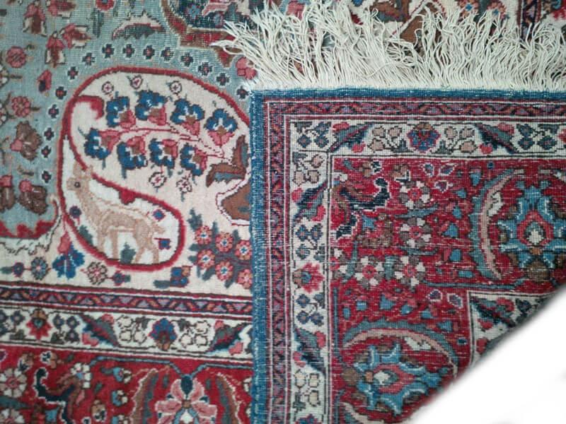 Fraai Antiek Handgeknoopt Perzisch Tapijt Kashmar 280 x 380 cm