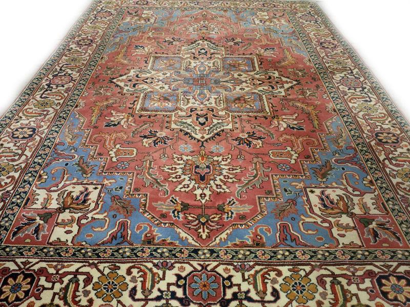 Perzisch Tapijt Blauw : Fraai heriz tapijt frisse kleuren 200 x 300 cm blauw roze