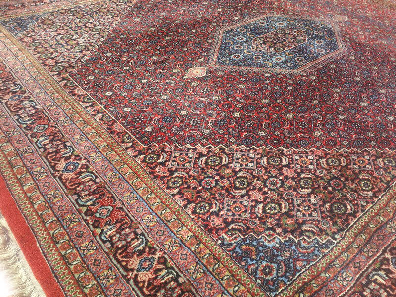 Rood Tapijt Aanbiedingen : Fraai oosters rood blauw bidjar tapijt 248 x 300 cm