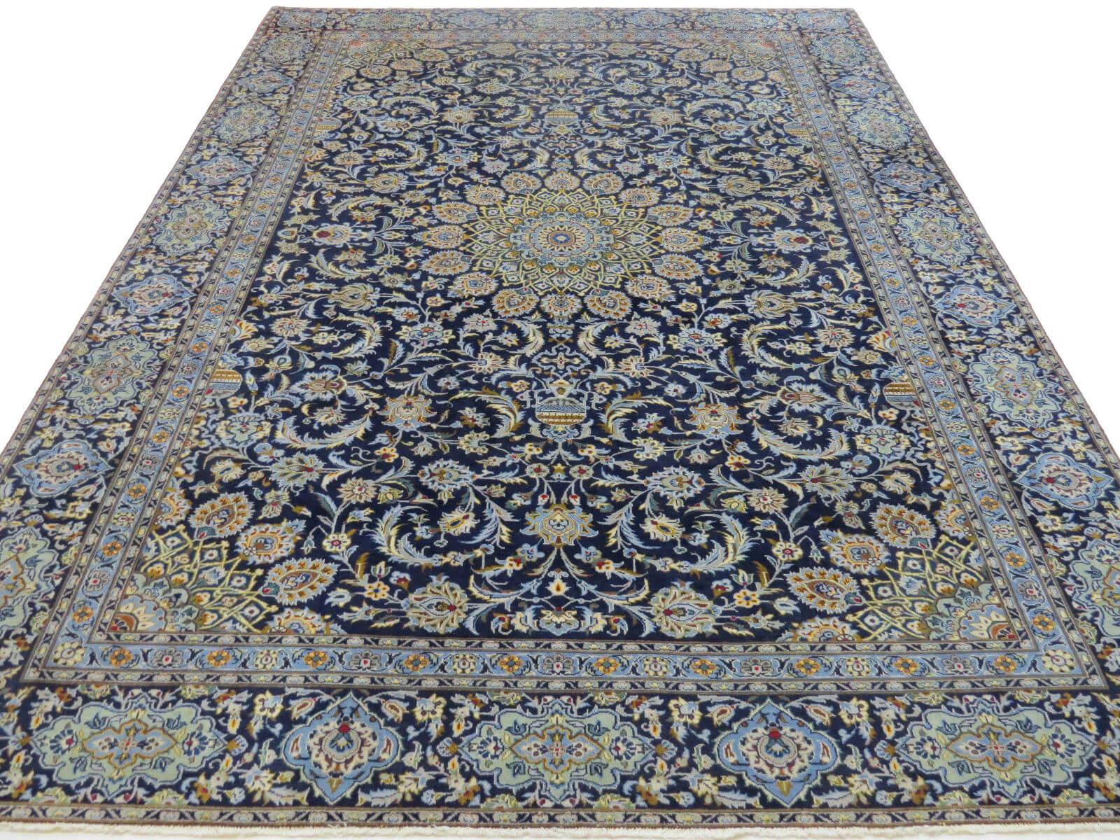 Perzisch Tapijt Blauw : Kashan tapijt blauw 2 deolijfberg.nl