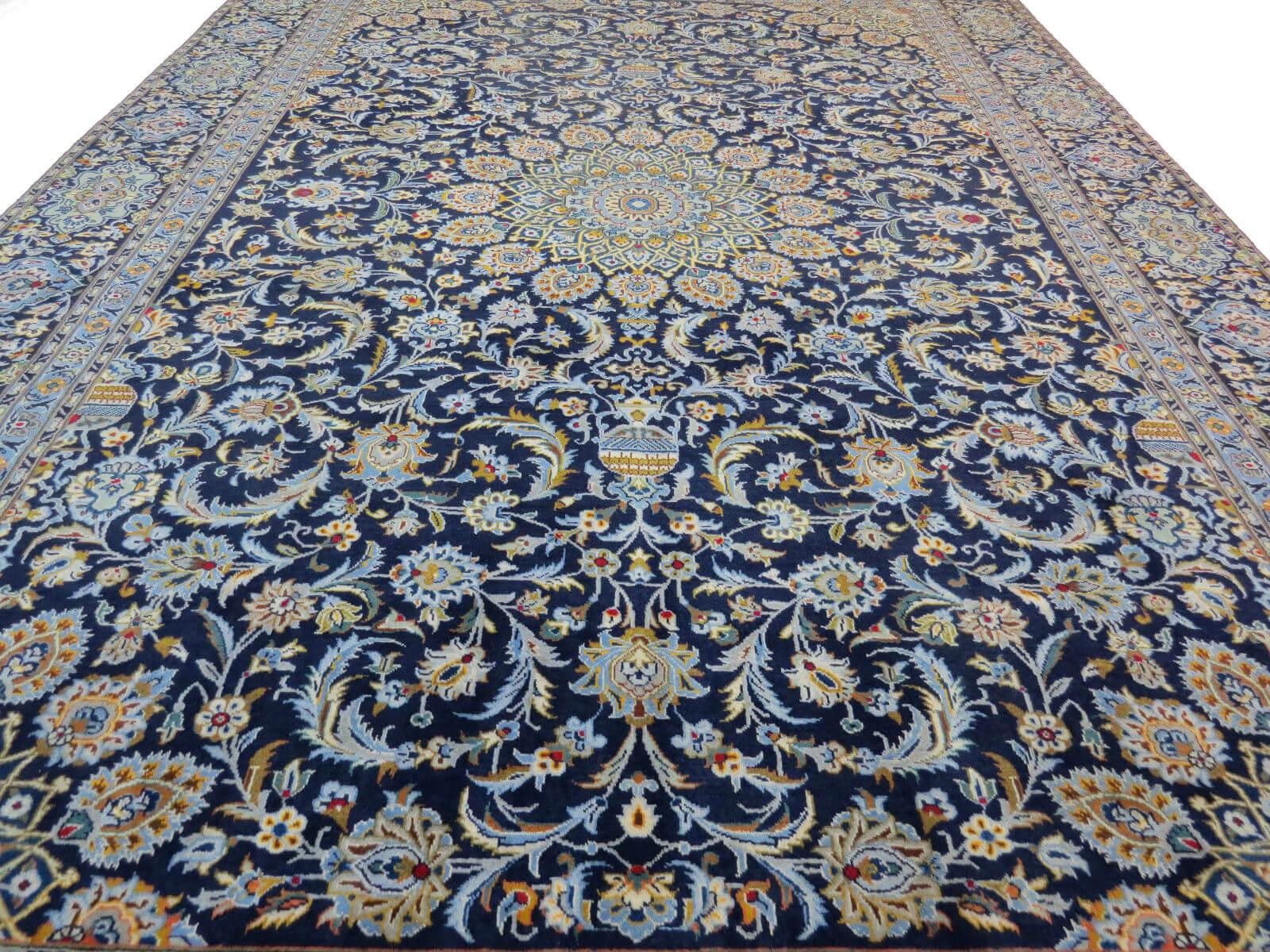 Blauw Perzisch Tapijt : Fraai perzisch kashan tapijt blauw cm top staat