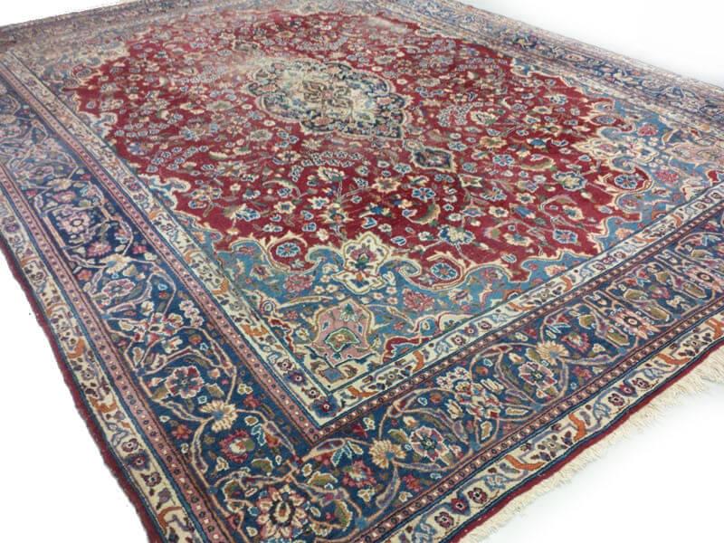 Rood Tapijt Aanbiedingen : Perzisch kashan tapijt vintage sleets cm blauw rood