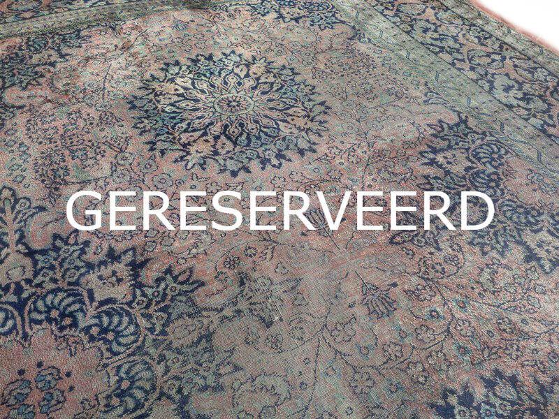 Perzisch Tapijt Blauw : Fraai sleets oosters perzisch tapijt kashmir 242 x 330 cm