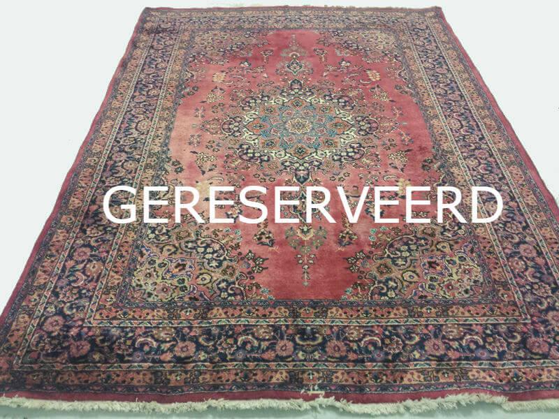Perzisch Tapijt Blauw : Fraai perzisch roze mesched tapijt ca. 200 x 300 cm