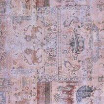 Roze Blauw Vintage Tapijt Recolored 228 x 353 cm SKU: R0002