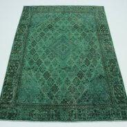 Vintage Vloerkleed Groen Perzisch (1)