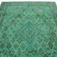 Vintage Vloerkleed Groen Perzisch (2)