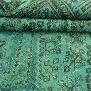 Vintage Vloerkleed Groen Perzisch (7)