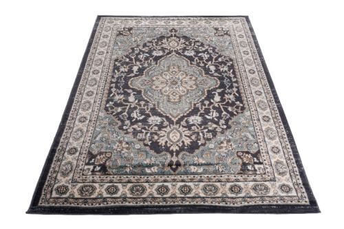 Perzisch Tapijt Blauw : Vintage design tapijt blauw grijs 160 x 220 cm deolijfberg.nl