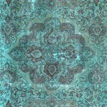 Groen Vintage Tapijt Recolored 292 x 243 cm