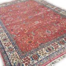 roze oosters vintage tapijt